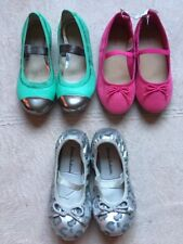 Hanna Andersson, Clark's, Old Navy Little Girls Flat Shoes Sizes 10-11, Cheetah
