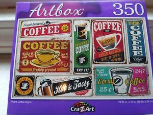 New 350 Piece Jigsaw Puzzle (Retro Coffee Signs)