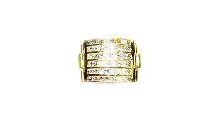 DIAMOND 48 PRINCESS SHAPE 6 ROW SET CHANNEL SET MENS DIAMOND RING DIAMOND BAND