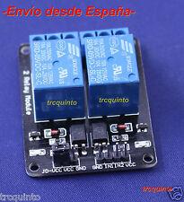 Modulo rele arduino de 2 canales 5v carga 10A Raspberry prototipos optoacoplado