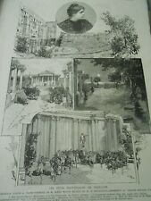 Holiday Provence of Vaucluse theatre The emperor Arles Engraving 1886