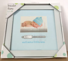 "NEW Tiny Ideas Bracelet Frame Baby Shower Keepsake Picture Frame Boy 12"" x 12"""