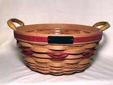Longaberger 1999 Christmas Popcorn Basket NEW