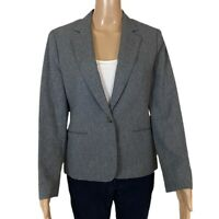 VTG PENDLETON Blazer Jacket 100% Wool Classic One Button Pockets Gray S/M