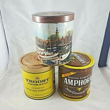 THREE VINTAGE TOBACCO TINS FROM HOLLAND TROOST AMPHORA DOUWE EGBERTS