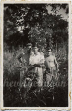 Vintage Male Nude - Vernacular Casual Group of Affectionate Guys in Nature