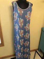 New listing James Kenrob Vintage Polyester Knit Floral Maxi Dress Retro Mod 38� Bust
