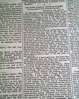 SECOND BATTLE OF CHARLESTON HARBOR Quincy Adams Gillmore1863 Civil War Newspaper