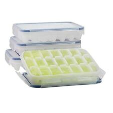 [Ship from USA] KOMAX Ice Cube Tray with No-spill Cover (Set of 4) BPA Free