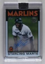 2021 Clearly Authentic 1986 Topps Baseball Starling Marte #86Tba-Sm Auto