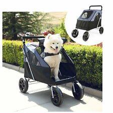 4 Wheels Pet Stroller Foldable Dog Cat Carrier Jogging Stroller Large/Medium Pet