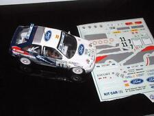 DECAL CALCA 1/43 FORD ESCORT KIT CAR D. ALONSO RALLY CORTE INGLES 1997