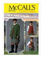 Sewing Pattern Men's Costume Outlander Scottish Attire Kilt Jacket Skirt S 38-44