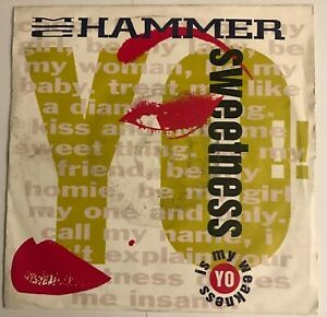"M. C. Hammer - ""Yo! Sweetness""  7"" vinyl (1991) MC / M.C / CL616 (Capitol) LOG8"
