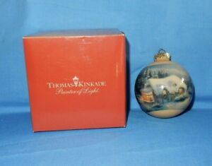 Thomas Kinkade Painter Light 2011 Sears Limited Edition Christmas Ornament Box