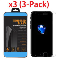 3PCS For iPhone 6 / 7 / 8 Plus Tempered GLASS Screen Protector Gurad Film OU