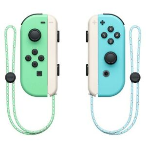 Nintendo Switch Animal Crossing Joy-Con Left & Right (L/R) Controllers w/ Straps