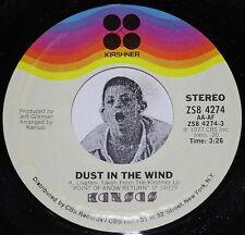 "Classic Rock 45~KANSAS~Dust In The Wind/ Paradox~CLEAN Vinyl 7"" NOS"