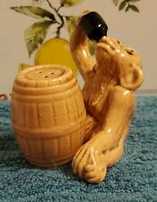 Vintage Drinking Monkey And Barrel Salt And Pepper Shakers