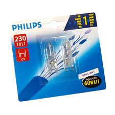 2x Philips G9 Ampoule Des Lampes Halogènes 230V 60W transparent