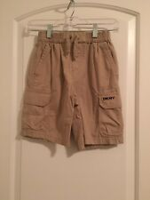DKNY Boys Casual Shorts Sz S Khaki Cargo Clothes