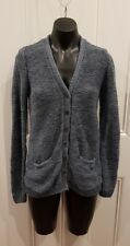 Women's Size L Ralph Lauren Hand Knit Cardigan With Elbow Patches