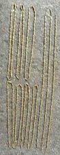 10 VINTAGE BEADED FLUTTED BRASS NECKLACE CHAINS 7 W CLASPS; 3 W/OUT; INV. # 2126
