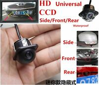 Car Rear View Side Front Mirror 170° View CCD Backup Parking Reversing Camera UK