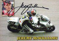 uralte AK, Autograph Motorradrennfahrer Jeremy McWilliams