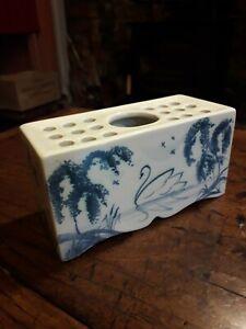 Deborah Sears ISIS Oxford English Delftware Flower Brick. Undamaged  condition.
