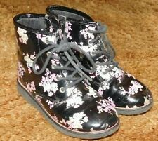 Girl's Size 11 Boots Flowers by The Children's Place