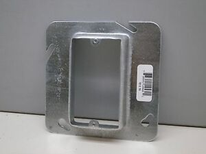 "(10) Steel City 72-C-15 One-Device Cover Ring 4-11/16"" Square X 1"" High 839 605"