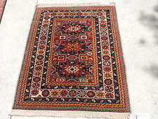 4x5ft. Vintage Shirvan Leski Star Caucasian Wool Rug