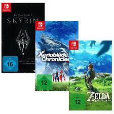 Zelda Breath of the Wild+ Xenoblade Chronicles 2+ Elder Skrolls V Skyrim Switch