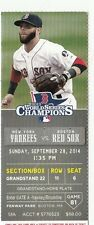 2014 NY YANKEES VS RED SOX TICKET STUB DP 9/28/14 DEREK JETER LAST GAME FENWAY