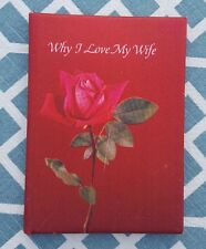 "Vintage 1971 Hallmark ""Why I Love My Wife"" 5.5"" X 4"" Booklet Card"