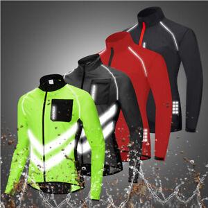 Mens Cycling Jacket Windproof Waterproof Road MTB Mountain Bike Vest Reflective