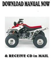 1997 Yamaha WARRIOR YFM350X factory repair service manuals on CD