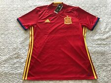 Adidas 2016 UEFA EURO Spain Home Soccer Jersey Short Sleeve Red AI4411 Men Sz L