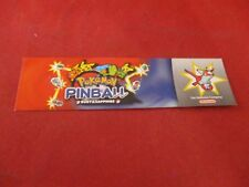 Pokemon Pinball Ruby & Sapphire Nintendo Game Boy Advance Promotional Bookmark