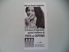 advertising Pubblicità 1977 DENTIFRICIO PASTA DEL CAPITANO