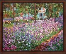 Le Jardin De Monet a Giverny by Claude Monet. The Garden. Framed Art Print