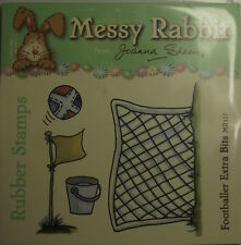 Footballer Extra Bits MR117 Messy Rabbit Un-mounted Rubber Stamps - Joanna Sheen