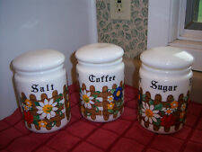 """Vintage Canister Set Milk White Canister Set of 3 Made in Italy 6 1/4"""" x 3 7/8"""""""