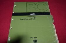 John Deere 78 Rear Mounted Blade Dealer's Parts Book Manual PANC