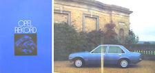 Opel Rekord E Saloon Berlina HL Estate 1978 Original UK Sales Brochure No. RB78
