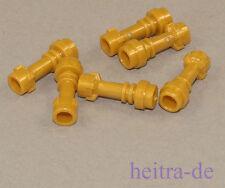 LEGO  - 6 x Laserschwert - Griff goldfarben ( pearl gold ) / 64567 NEUWARE