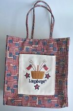 RARE~LONGABERGER~4TH OF JULY EMBROIDERED~CANVAS LUNCH TOTE BAG~COLLECTIBLE~NEW!