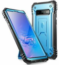 Samsung Galaxy S10 Case [w/Kick-stand] Poetic Dual Layer Shockproof Cover Blue