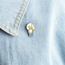Jacket Backpack Shirt Pin Badge Rs Light bulb Brooch Pin Alloy Enamel Brooch